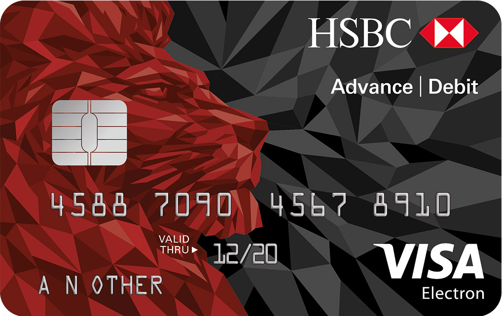 hsbc bank account debit card